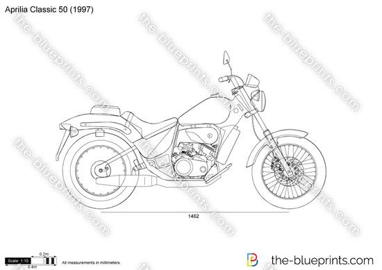 Aprilia Classic 50 vector drawing