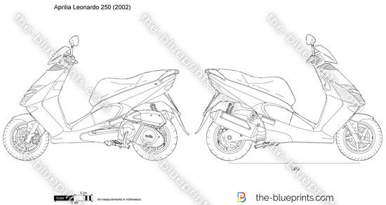 Aprilia Leonardo 250 vector drawing