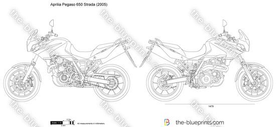 Aprilia Pegaso 650 Strada vector drawing