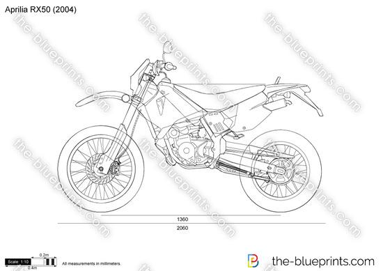 Aprilia RX50 vector drawing