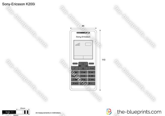 Sony-Ericsson K200i vector drawing