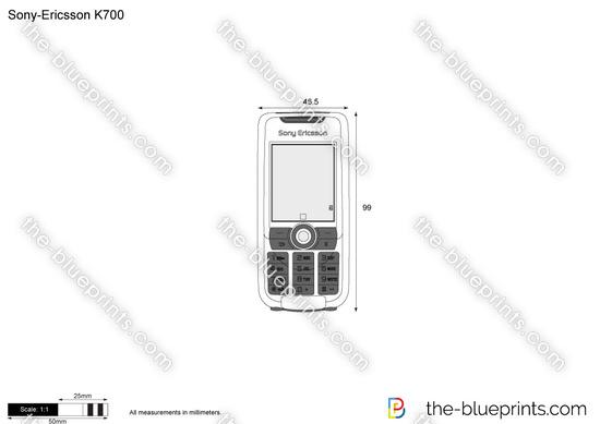 Sony-Ericsson K700 vector drawing