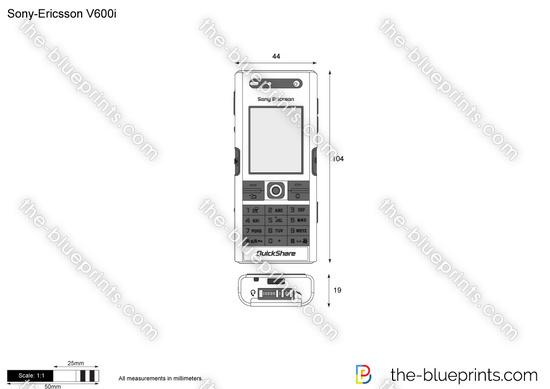Sony-Ericsson V600i vector drawing
