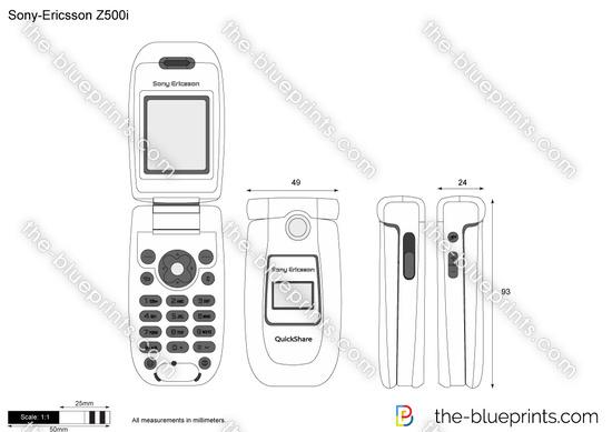 Sony-Ericsson Z500i vector drawing