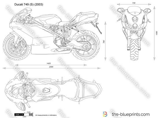 Ducati 749 (S) vector drawing