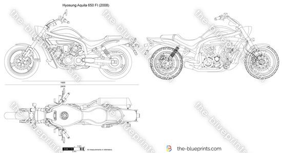Hyosung Aquila 650 FI vector drawing