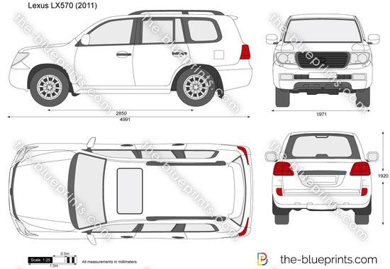 Lexus LX570 vector drawing