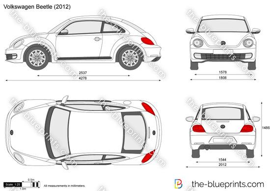 Volkswagen Beetle vector drawing