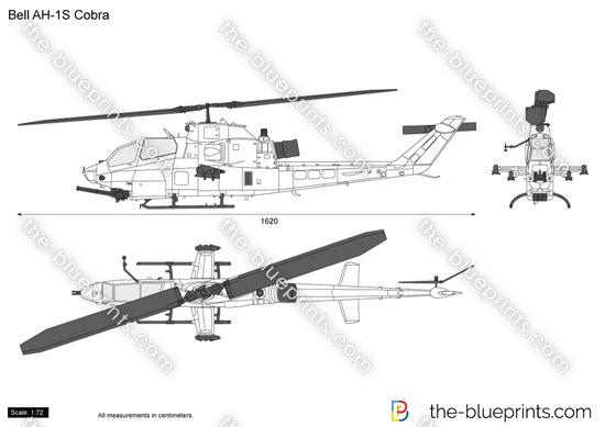 Bell AH-1S Cobra vector drawing