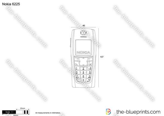Nokia 6225 vector drawing