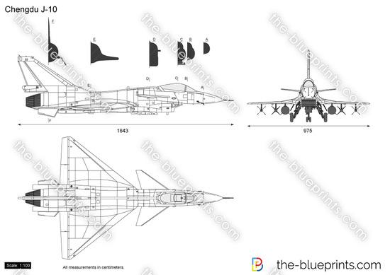 Chengdu J-10 vector drawing