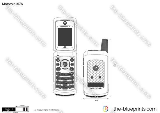 Motorola i576 vector drawing