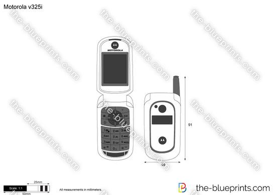 Motorola v325i vector drawing