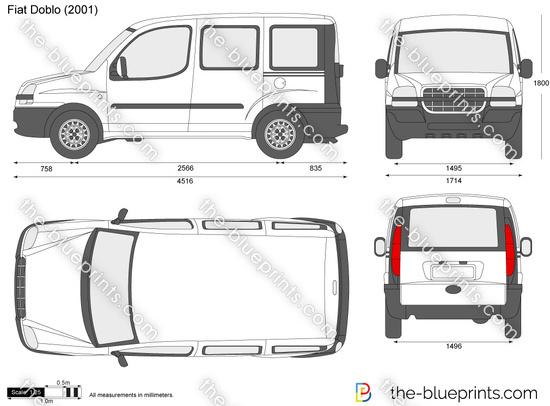 Blueprints > Cars > Fiat > Fiat Doblo (2001)