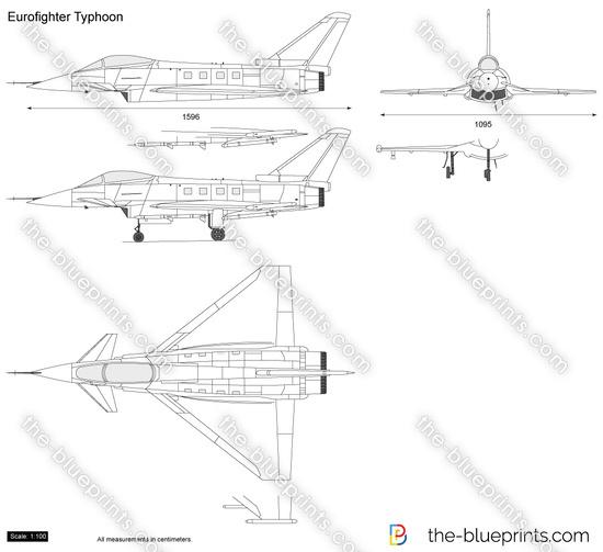 Eurofighter Typhoon vector drawing