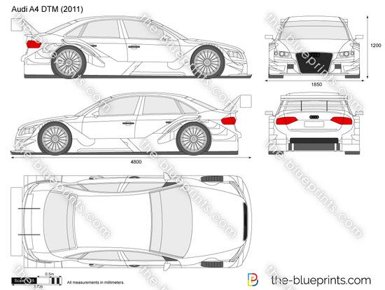 Audi A4 DTM vector drawing