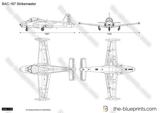 BAC-167 Strikemaster vector drawing