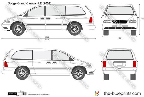 Dodge Grand Caravan LE vector drawing
