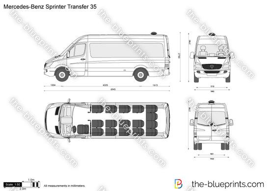Mercedes-Benz Sprinter Transfer 35 vector drawing