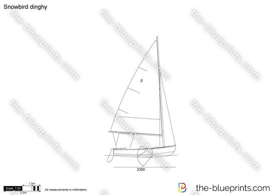 Snowbird dinghy vector drawing