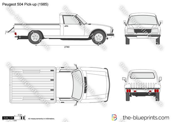 Blueprints > Cars > Peugeot > Peugeot 504 Pick-up Chassis
