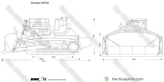 Komatsu D575A vector drawing