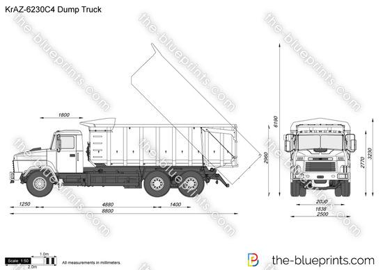 KrAZ-6230C4 Dump Truck vector drawing