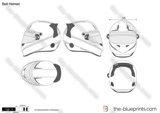 Bell Helmet vector drawing