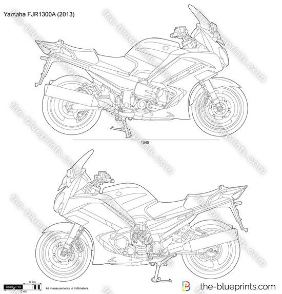 Yamaha FJR1300A vector drawing