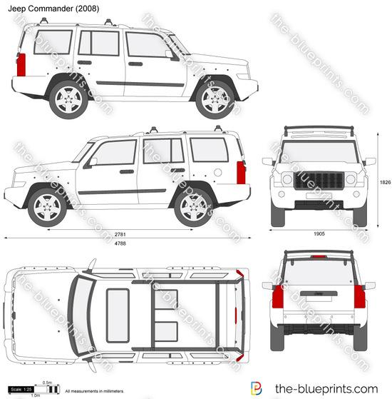 Jeep Commander vector drawing