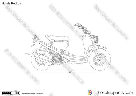 Honda Ruckus vector drawing