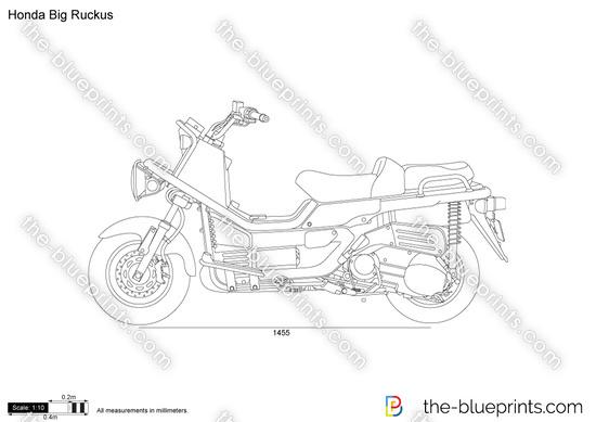 Honda Big Ruckus vector drawing