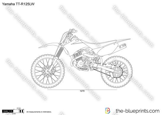 Yamaha TT-R125LW vector drawing
