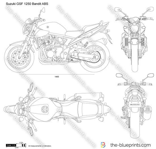 Suzuki GSF 1250 Bandit ABS vector drawing