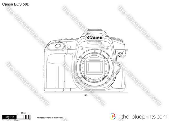 Canon EOS 50D vector drawing