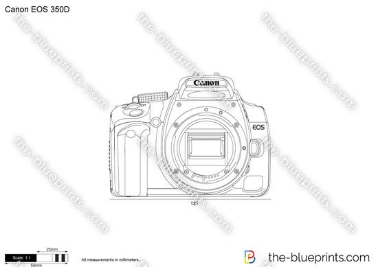 Canon EOS 350D vector drawing