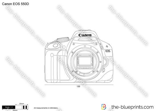 Canon EOS 550D vector drawing