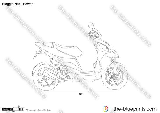 Piaggio NRG Power vector drawing
