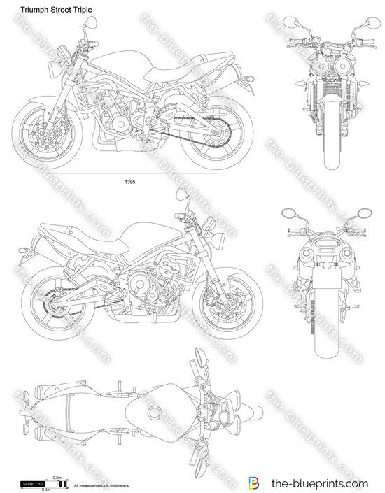 Triumph Street Triple vector drawing
