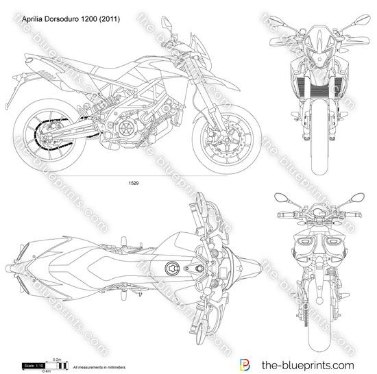 Aprilia Dorsoduro 1200 vector drawing