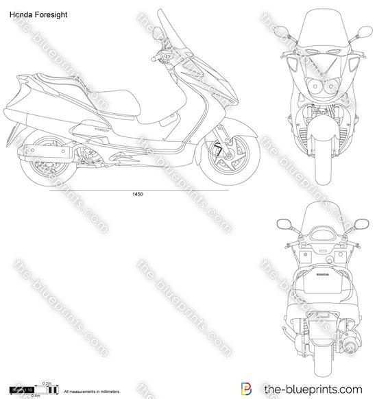Honda Foresight vector drawing
