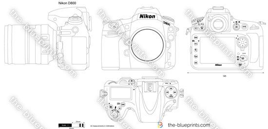 Nikon D800 vector drawing