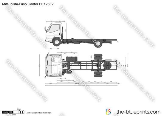 Mitsubishi-Fuso Canter FE126F2 vector drawing