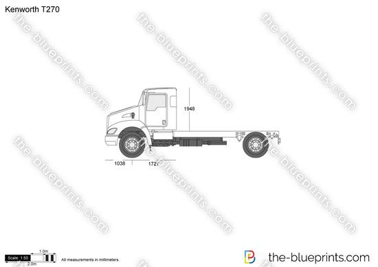 Kenworth T270 vector drawing