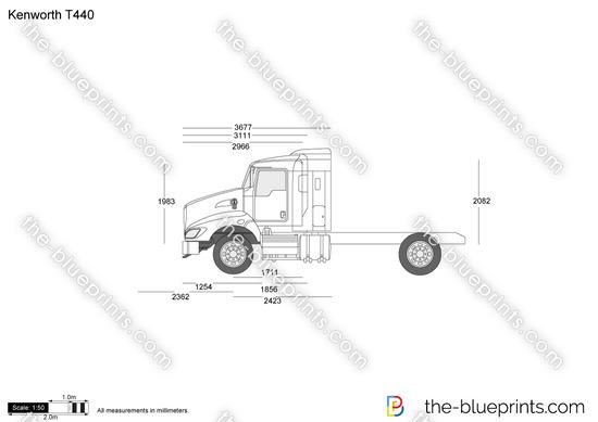 Kenworth T440 vector drawing