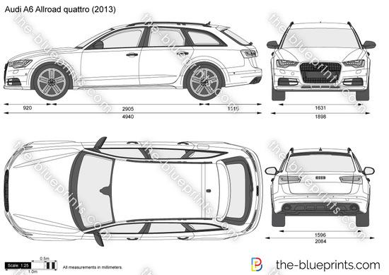 Blueprints > Cars > Audi > Audi A6 Allroad Quattrio (2013)