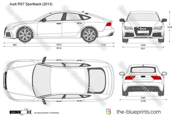 Audi RS7 Sportback vector drawing