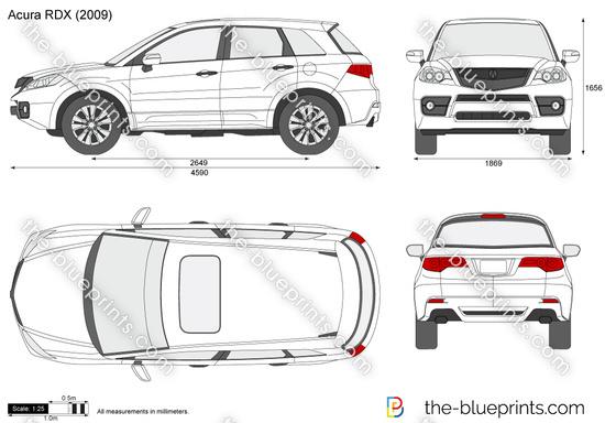 Acura RDX vector drawing