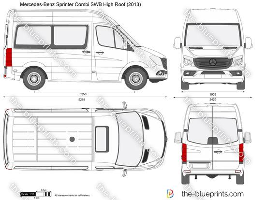 Mercedes-Benz Sprinter Combi SWB High Roof vector drawing