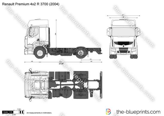 Renault Premium 4x2 R 3700 vector drawing